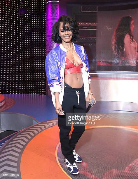 106 Park host Teyana Taylor attends 106 Park at BET studio on July 14 2014 in New York City