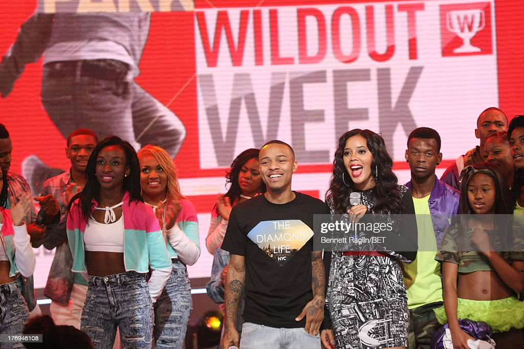106 & Park hosts <a gi-track='captionPersonalityLinkClicked' href=/galleries/search?phrase=Bow+Wow+-+Rapper&family=editorial&specificpeople=211211 ng-click='$event.stopPropagation()'>Bow Wow</a> and <a gi-track='captionPersonalityLinkClicked' href=/galleries/search?phrase=Angela+Simmons&family=editorial&specificpeople=653461 ng-click='$event.stopPropagation()'>Angela Simmons</a> attend 106 & Park at 106 & Park Studio on August 19, 2013 in New York City.
