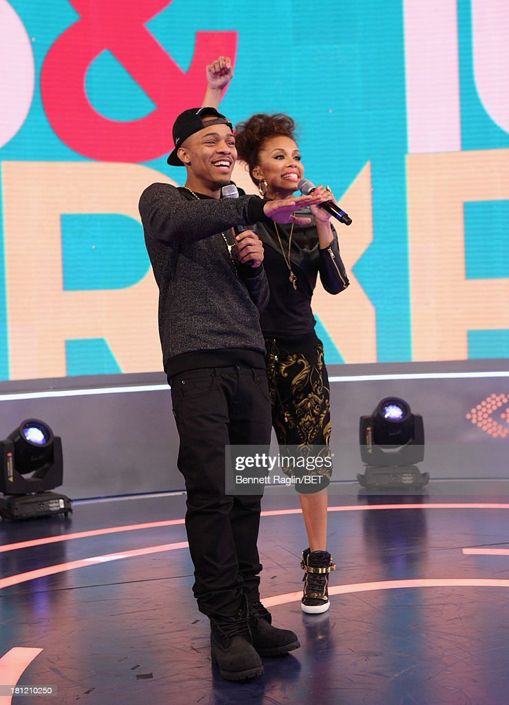 106 & Park hosts <a gi-track='captionPersonalityLinkClicked' href=/galleries/search?phrase=Bow+Wow+-+Rapper&family=editorial&specificpeople=211211 ng-click='$event.stopPropagation()'>Bow Wow</a> and Keshia Chante attend 106 & Park at 106 & Park Studio on September 18, 2013 in New York City.