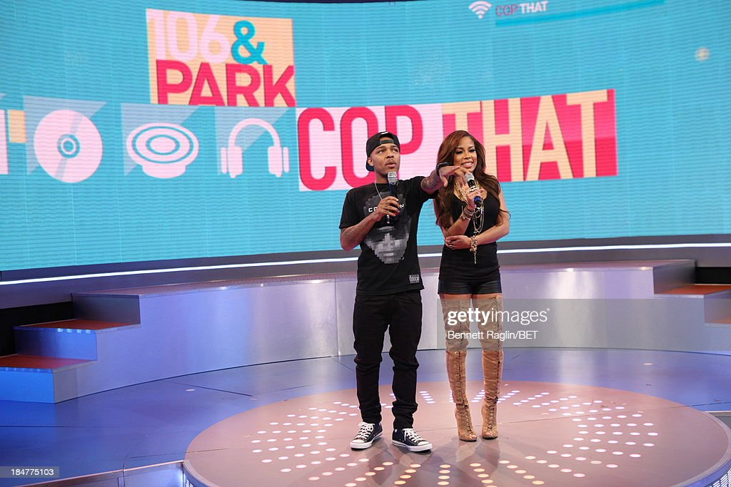 106 & Park hosts <a gi-track='captionPersonalityLinkClicked' href=/galleries/search?phrase=Bow+Wow+-+Rapper&family=editorial&specificpeople=211211 ng-click='$event.stopPropagation()'>Bow Wow</a> and Keshia Chante attend 106 & Park at 106 & Park studio on October 15, 2013 in New York City.
