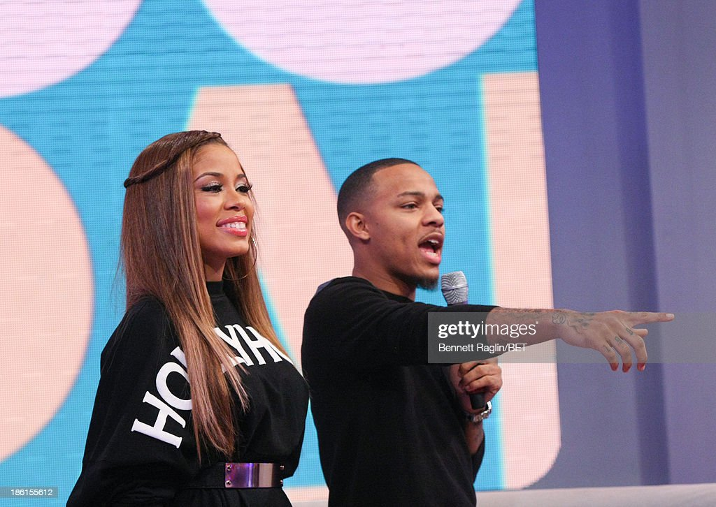 106 & Park hosts <a gi-track='captionPersonalityLinkClicked' href=/galleries/search?phrase=Bow+Wow+-+Rapper&family=editorial&specificpeople=211211 ng-click='$event.stopPropagation()'>Bow Wow</a> and Keshia Chante attend 106 & Park at 106 & Park studio on October 28, 2013 in New York City.
