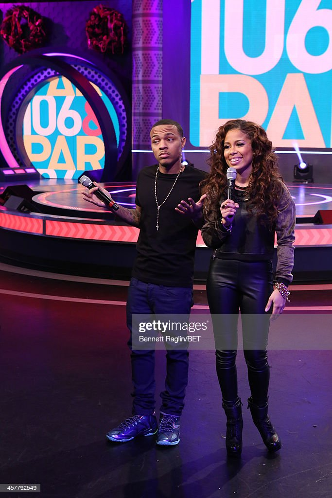 106 & Park hosts <a gi-track='captionPersonalityLinkClicked' href=/galleries/search?phrase=Bow+Wow+-+Rapper&family=editorial&specificpeople=211211 ng-click='$event.stopPropagation()'>Bow Wow</a> and Keshia Chante attend 106 & Park at BET studio on December 17, 2013 in New York City.