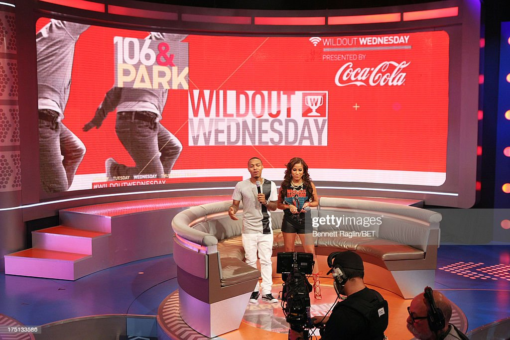106 & Park hosts <a gi-track='captionPersonalityLinkClicked' href=/galleries/search?phrase=Bow+Wow&family=editorial&specificpeople=211211 ng-click='$event.stopPropagation()'>Bow Wow</a> and Keshia Chante attend BET's 106 & Park at BET Studios on July 31, 2013 in New York City.