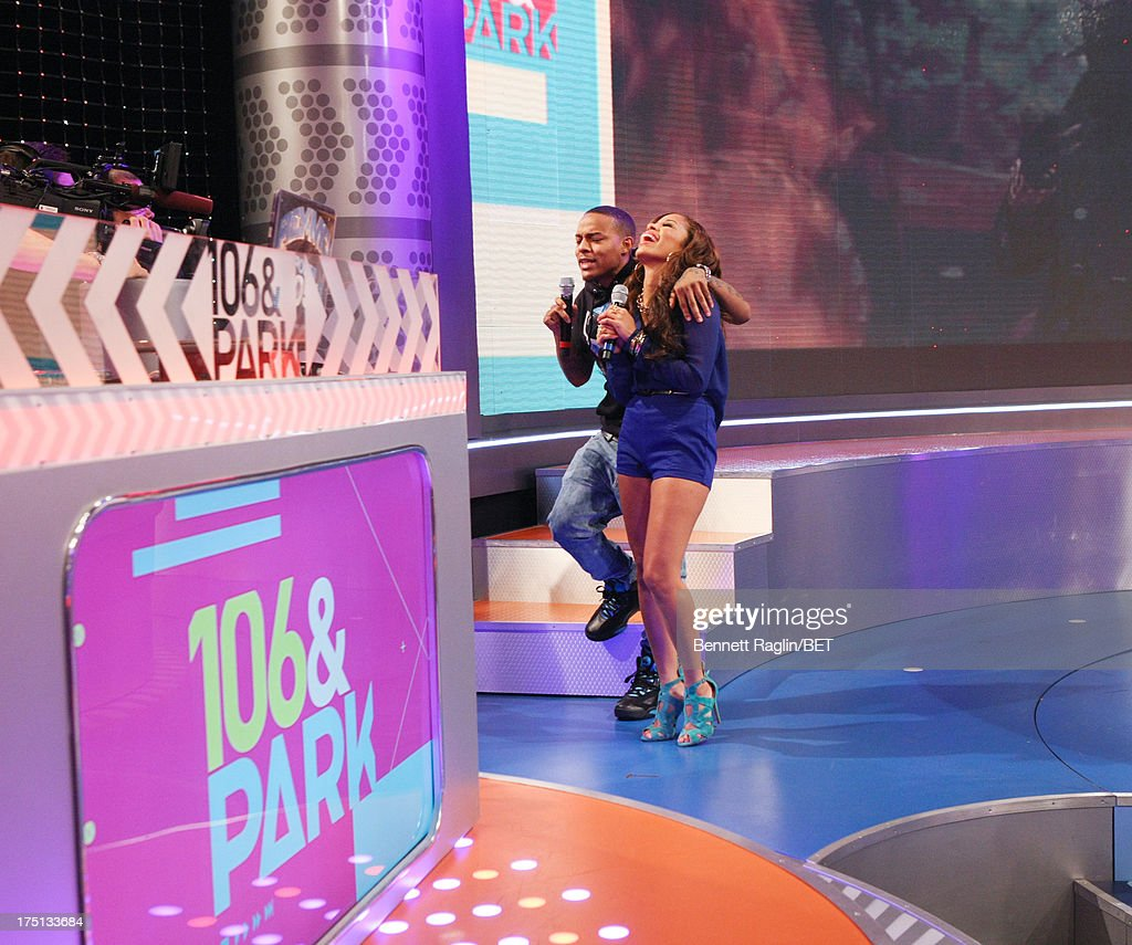 106 & Park hosts Bow Wow and Keshia Chante attend BET's 106 & Park at BET Studios on July 31, 2013 in New York City.