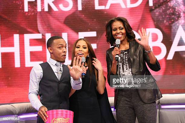 106 Park hosts Bow Wow and Keshia Chante interview First Lady MIchelle Obama during 106 Park at BET Studios on November 18 2013 in New York City