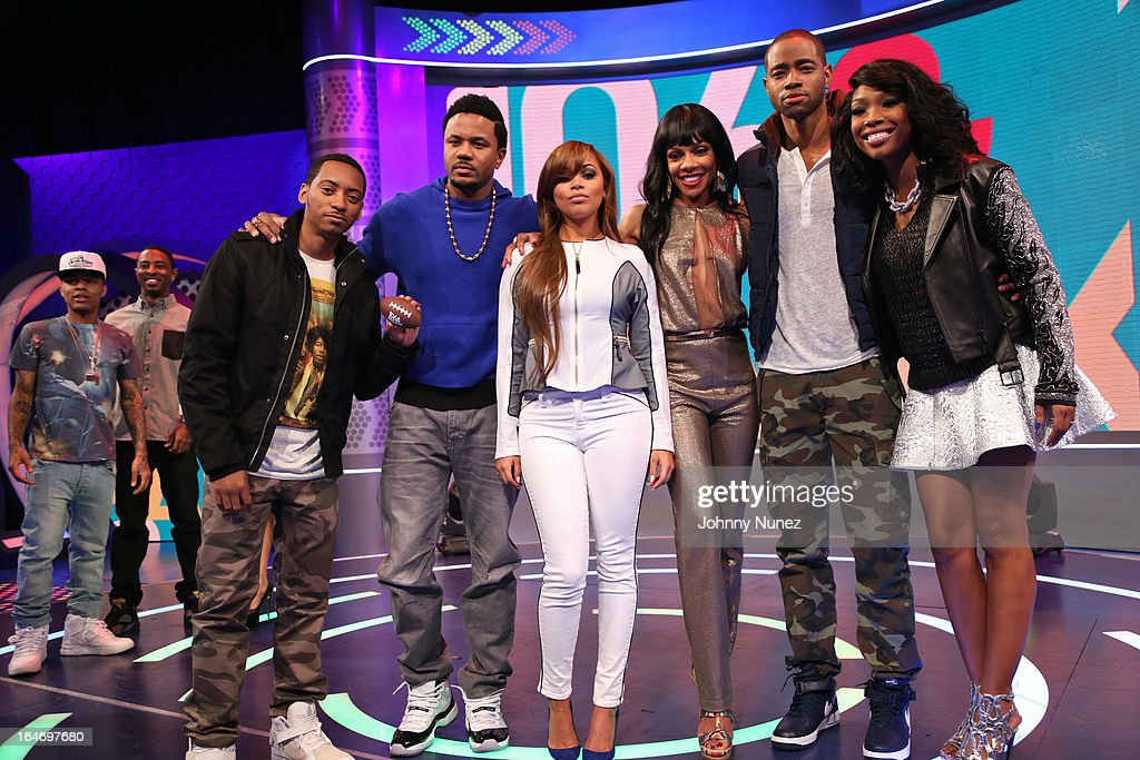 '106 & Park' hosts <a gi-track='captionPersonalityLinkClicked' href=/galleries/search?phrase=Bow+Wow+-+Rapper&family=editorial&specificpeople=211211 ng-click='$event.stopPropagation()'>Bow Wow</a> and <a gi-track='captionPersonalityLinkClicked' href=/galleries/search?phrase=Shorty+Da+Prince&family=editorial&specificpeople=9784723 ng-click='$event.stopPropagation()'>Shorty Da Prince</a>, and BET's 'The Game' castmembers Barry Floyd, <a gi-track='captionPersonalityLinkClicked' href=/galleries/search?phrase=Hosea+Chanchez&family=editorial&specificpeople=879950 ng-click='$event.stopPropagation()'>Hosea Chanchez</a>, <a gi-track='captionPersonalityLinkClicked' href=/galleries/search?phrase=Lauren+London&family=editorial&specificpeople=629462 ng-click='$event.stopPropagation()'>Lauren London</a>, <a gi-track='captionPersonalityLinkClicked' href=/galleries/search?phrase=Wendy+Raquel+Robinson&family=editorial&specificpeople=631178 ng-click='$event.stopPropagation()'>Wendy Raquel Robinson</a>, Jay R. Ellis, and Brandy visit BET's '106 & Park' at BET Studios on March 26, 2013, in New York City.