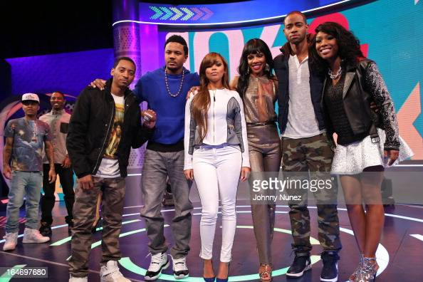 '106 Park' hosts Bow Wow and Shorty Da Prince and BET's 'The Game' castmembers Barry Floyd Hosea Chanchez Lauren London Wendy Raquel Robinson Jay R...