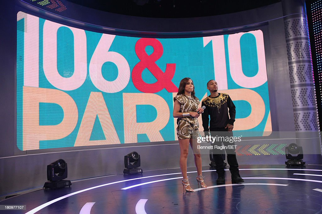 106 & Park hosts Keshia Chante and Bow Wow attend 106 & Park at 106 & Park Studio on September 18, 2013 in New York City.