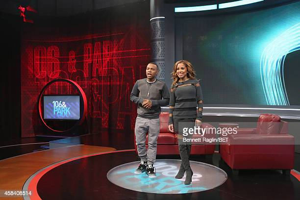 106 Park hosts Shad Moss and Keshia Chante attend 106 Park at BET studio on November 3 2014 in New York City