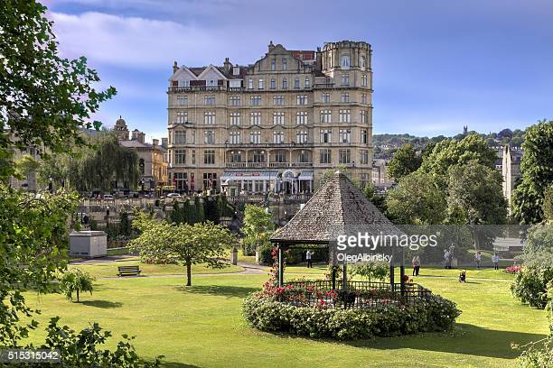 Park in Historic Center of Bath, Somerset, England, United Kingdom.