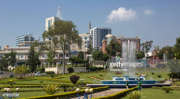 Park in the city of Kigali on February 03 2014 in Kigali Rwanda