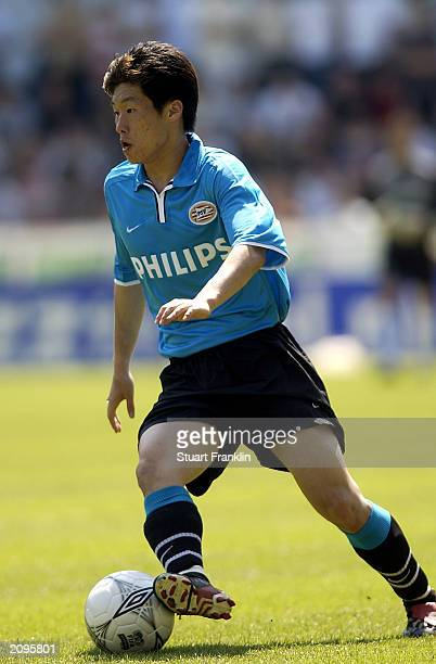 Park Ji Sung of PSV Eindhoven runs with the ball during the Holland Casino Eredivisie match between FC Groningen and PSV Eindhoven held on May 29...