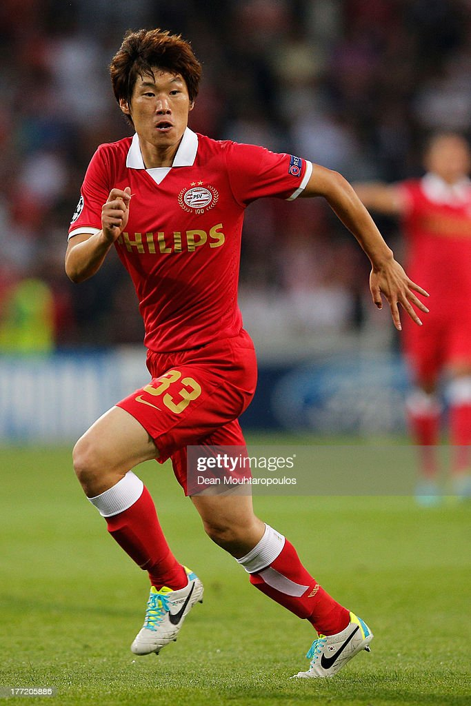 Park Ji-Sung of PSV in action during the UEFA Champions League Play-off First Leg match between PSV Eindhoven and AC Milan at PSV Stadion on August 20, 2013 in Eindhoven, Netherlands.