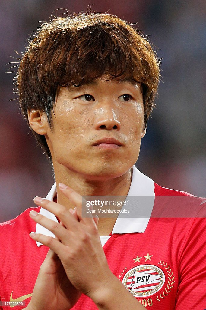 Park Ji-Sung of PSV looks on prior to the UEFA Champions League Play-off First Leg match between PSV Eindhoven and AC Milan at PSV Stadion on August 20, 2013 in Eindhoven, Netherlands.