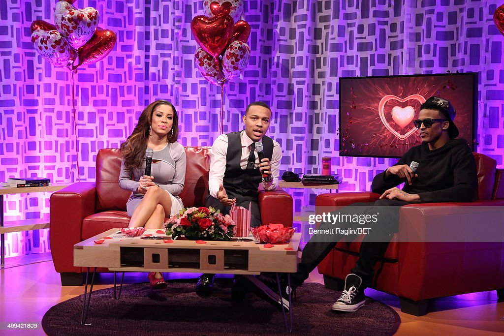 106 & Park Keshia Chante and <a gi-track='captionPersonalityLinkClicked' href=/galleries/search?phrase=Bow+Wow+-+Rapper&family=editorial&specificpeople=211211 ng-click='$event.stopPropagation()'>Bow Wow</a> attend 106 & Park at BET studio on February 11, 2014 in New York City.