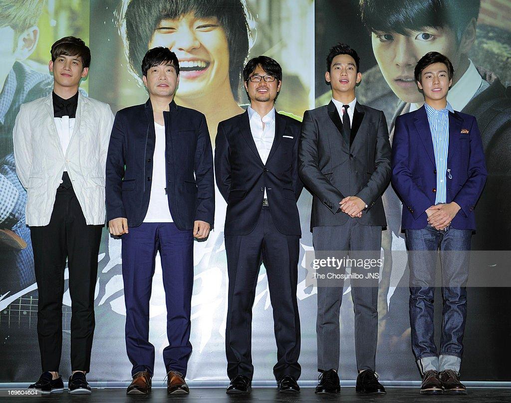 Park KiWoong Son HyunJoo director Jang ChulSoo Kim SooHyun and Lee HyunWoo attend the 'Secretly and Greatly' press conference at COEX Megabox on May...