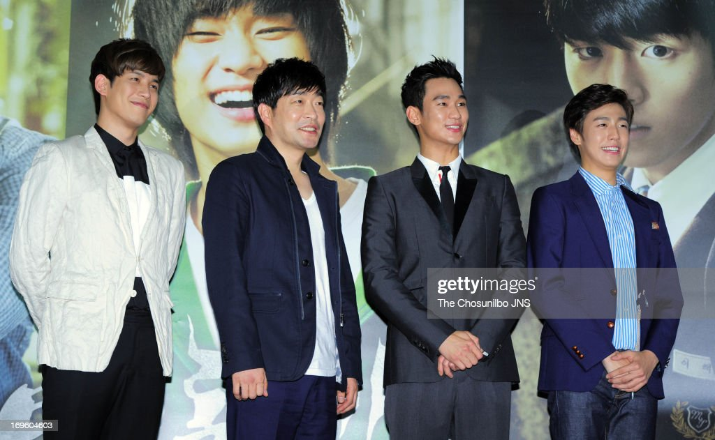 Park KiWoong Son HyunJoo Kim SooHyun and Lee HyunWoo attend the 'Secretly and Greatly' press conference at COEX Megabox on May 27 2013 in Seoul South...