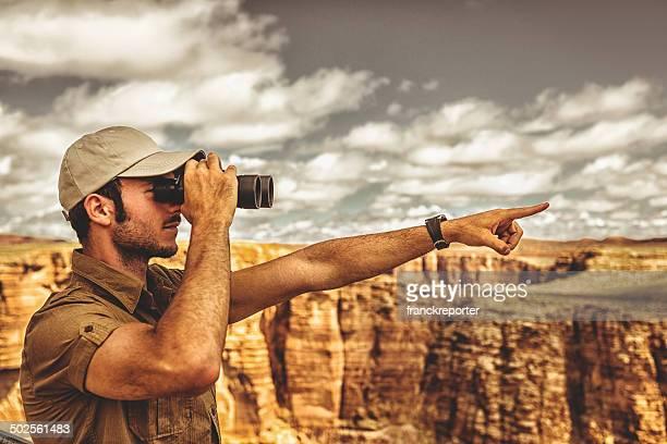 park ranger Freuen Sie sich auf den grand canyon