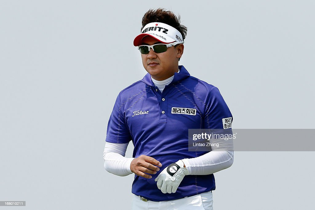 Park Sang-hyun of South Korea of looks on during the third day of the Volvo China Open at Binhai Lake Golf Course on May 4, 2013 in Tianjin, China.