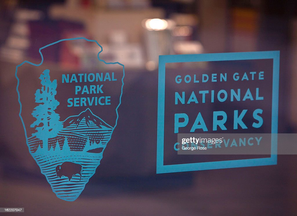 Park Service signs adorn a gift shop at the Golden Gate Bridge on February 13, 2013, in San Francisco, California. Some 13.6 million international travelers visit the State each year generating nearly $100 billion in revenue and creating approximately 900,000 jobs in the arts, entertainment, recreation, food service and accomodations sectors.