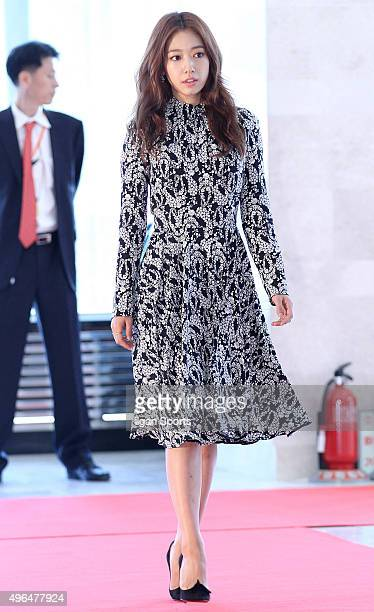 Park Shinhye attends the 2015 Korean Popular Culture and Arts Awards at National Theater of Korea on October 29 2015 in Seoul South Korea