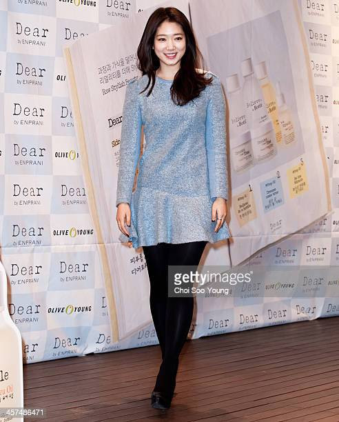 Park ShinHye attneds the autograph session for 'Dear' launch at Olive Young Lifestyle Experience Center on December 13 2013 in Seoul South Korea
