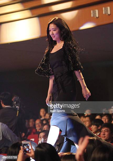 Park ShinHye is awarded during the 50th Paeksang Arts Awards at Grand Peace Palace in Kyung Hee University on May 27 2014 in Seoul South Korea