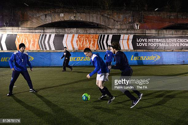 Park Street and Hunters during the People's Cup SemiFinals London City on February 27 2016 in London England
