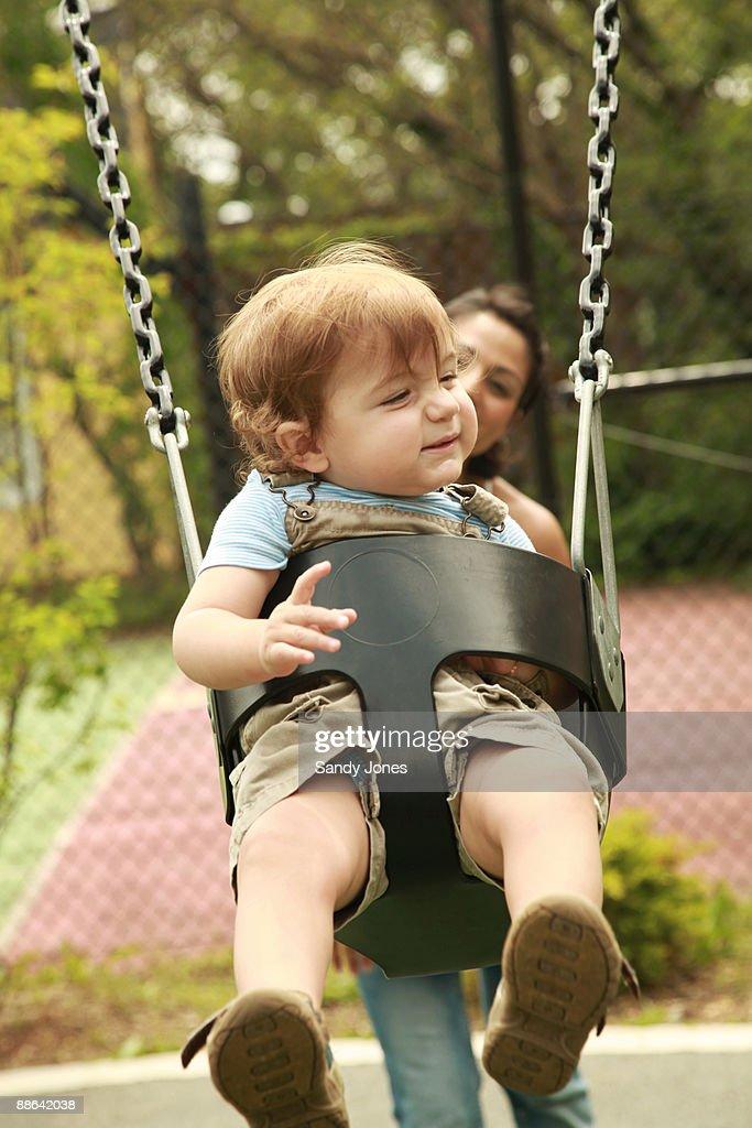 Park: Swings : Stock Photo