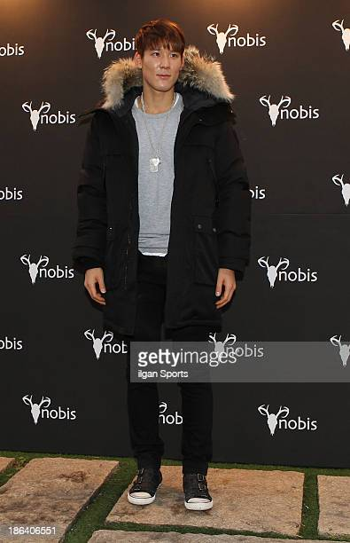 Park TaeHwan attends the Nobis Fashion Show at Beyond Museum on October 30 2013 in Seoul South Korea