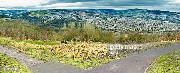 Blick auf den Park von Sheffield UK