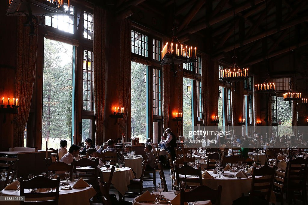 Park Visitors Sit For Dinner At The Ahwahnee Hotel Dining Room On August 28  2013 In