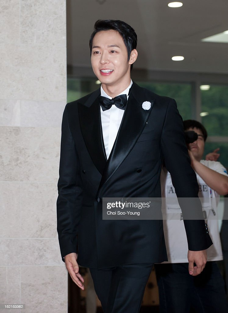 Park Yoo-Chun attends 'Seoul International Drama Awards 2012' at the National Theater of Korea on August 30, 2012 in Seoul, South Korea.