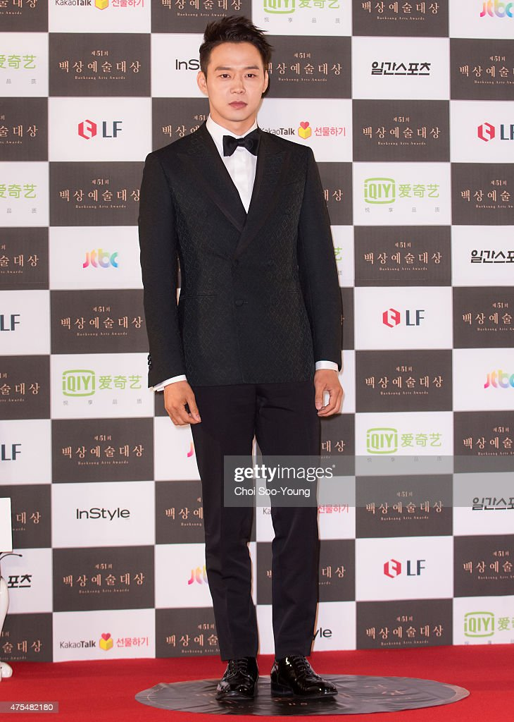 Park YooChun of JYJ attends the 51st Baeksang Arts Awards at Grand Peace Palace in Kyung Hee University on May 26 2015 in Seoul South Korea