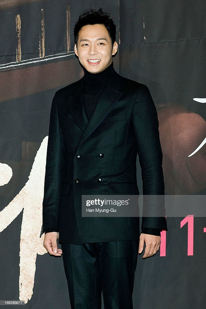 Park Yoo-Chun of South Korean boy band JYJ attends during a press conference to promote the MBC drama 'Miss You' on November 01, 2012 in Seoul, South Korea. The drama will open on November 07 in South Korea.