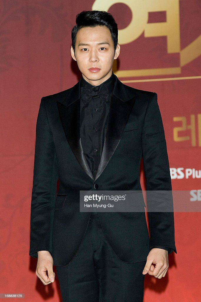 Park Yoo-Chun of South Korean boy band JYJ attends during the 2012 SBS Drama Awards at SBS Prism Tower on December 31, 2012 in Seoul, South Korea.