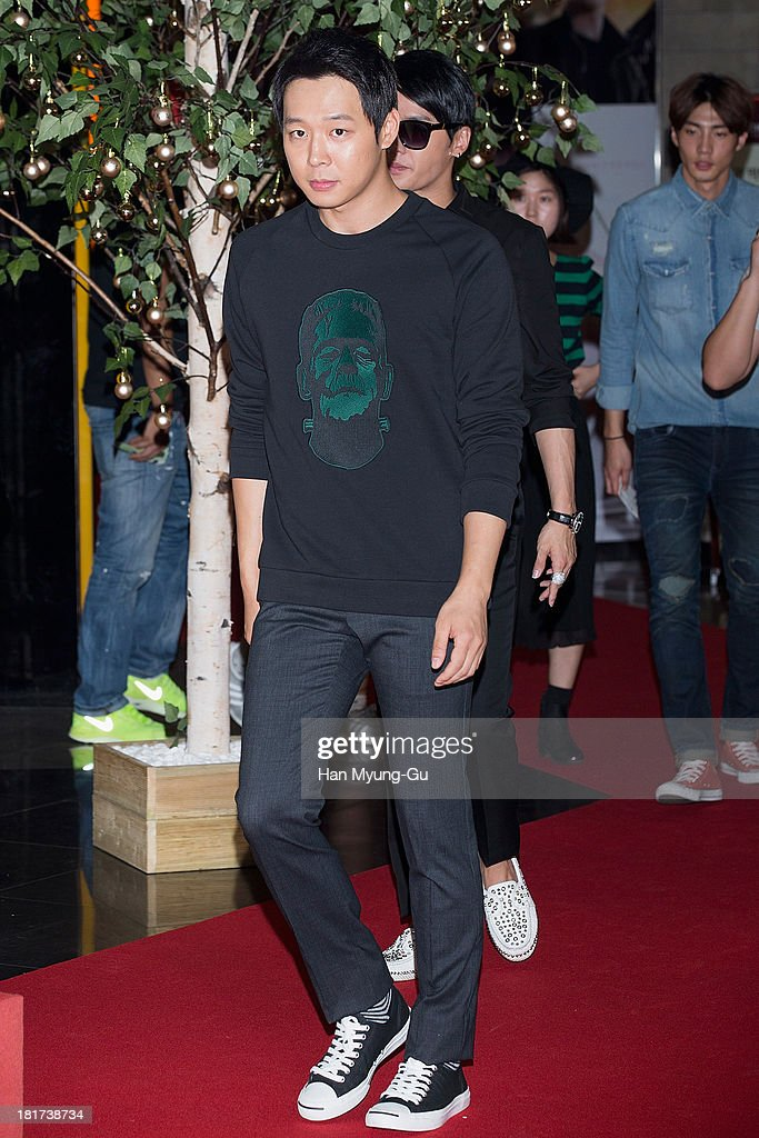 Park Yoo-Chun of South Korean boy band JYJ attends 'Wish' VIP screening at Lotte Cinema on September 23, 2013 in Seoul, South Korea. The film will open on October 02, in South Korea.