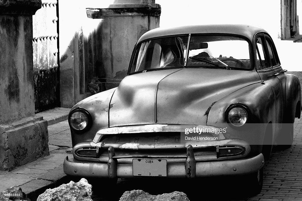 Parked 1950s Chevrolet sedan : Stock Photo