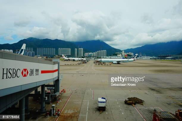 Parked Airplanes at Hong Kong International Airport, Overview, China