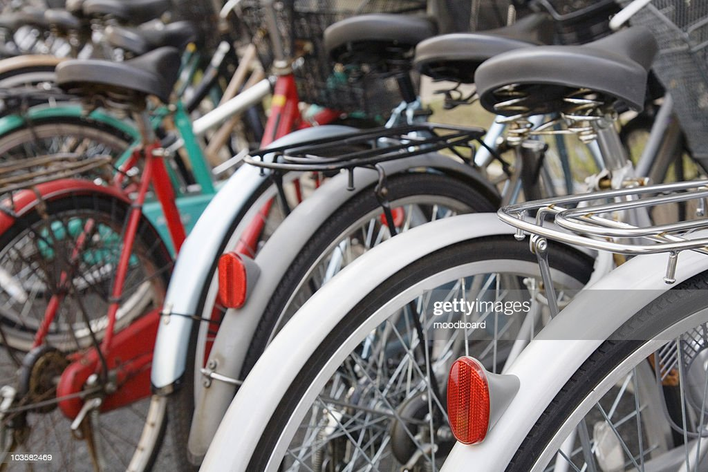 Parked Bicycles : Stock Photo