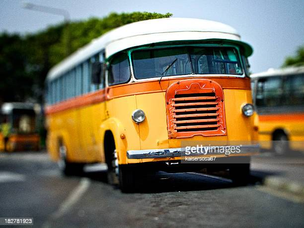 Parked Yellow Bus