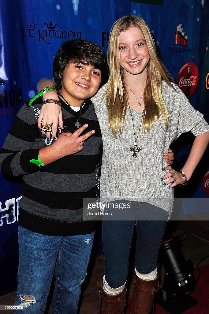 Parker Contreras and Madison Leisle arrive at the CHILL-OUT closing night concert at The Queen Mary on January 6, 2013 in Long Beach, California.
