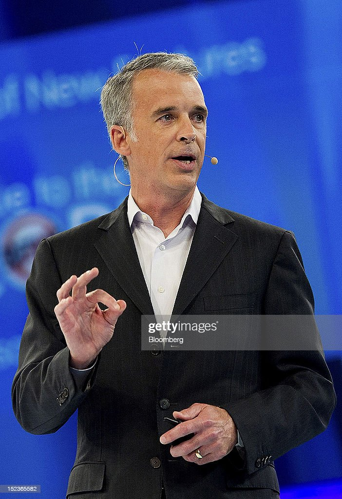 Parker Harris, executive vice president of technology for Salesforce.com Inc., speaks during a keynote address at the DreamForce Conference in San Francisco, California, U.S., on Wednesday, Sept. 19, 2012. Salesforce.com Inc. said it's releasing a new version of its software for tablet computers and unifying its social-media marketing products into a single suite, as it races to stay ahead of new market entrants. Photographer: David Paul Morris/Bloomberg via Getty Images