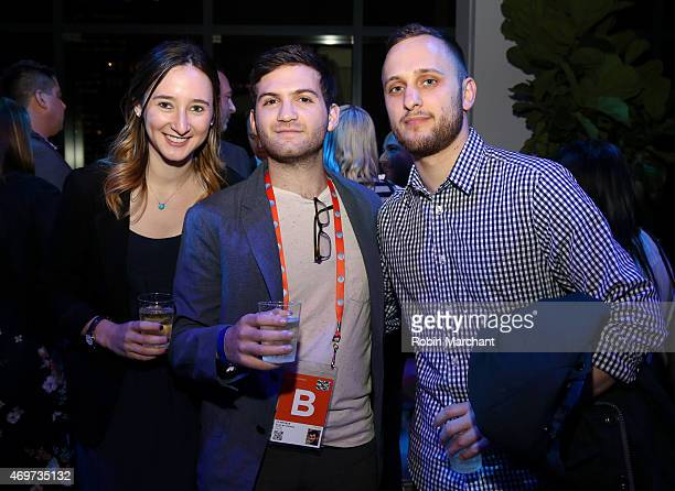 Parker Hill Evan Ari Kelman and Sebastian Savino attend the New York Filmmaker Party during the 2015 Tribeca Film Festival at Spring Studios on April...