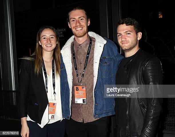 Parker Hill Jem Rankin and Evan Ari Kelman attend Shorts Filmmakers Party 2016 Tribeca Film Festival at Eventi Hotel on April 17 2016 in New York City