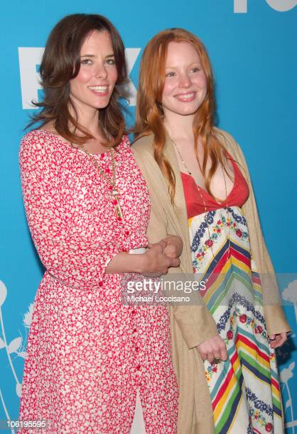Parker Posey and Lauren Ambrose during The 2007/2008 Fox Upfronts Arrivals at Wollman Rink Central Park in New York City New York United States