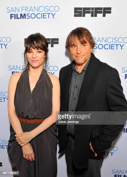 Parker Posey and Richard Linklater attend the Film Society Awards at the 57th San Francisco International Film Festival at The Lodge at The Regency...