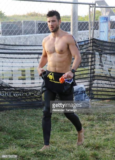 Parker Young is seen at the Life Time Triathalon on April 2 2017 in Miami Beach Florida