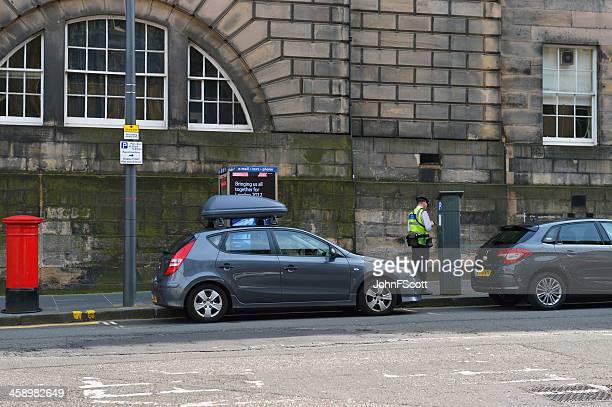 Parking attendant working in Edinburgh