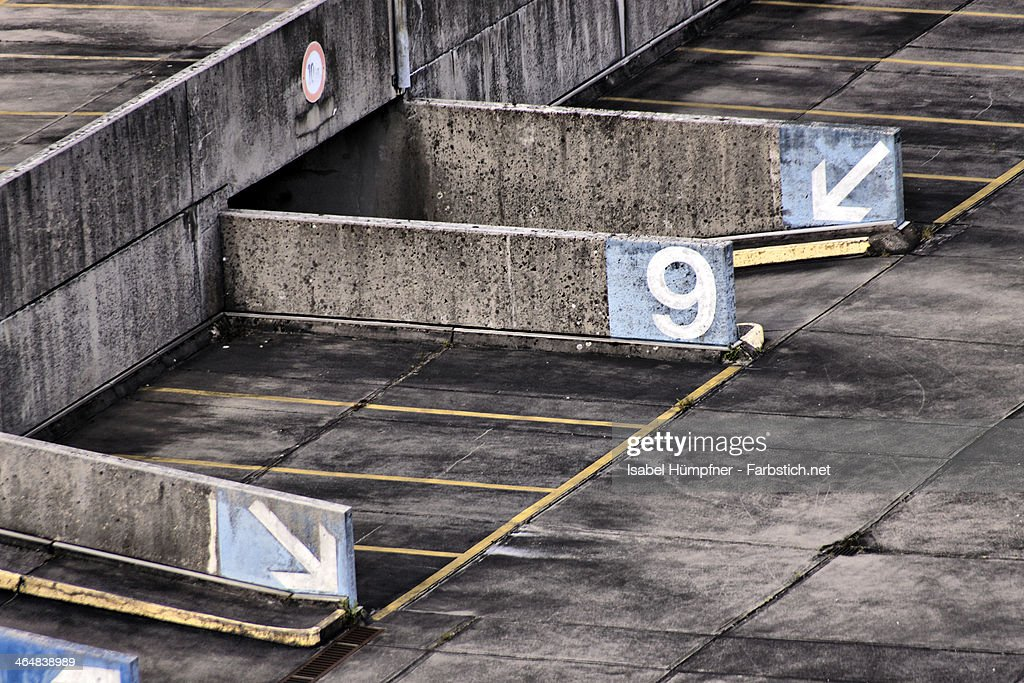 parking deck from above